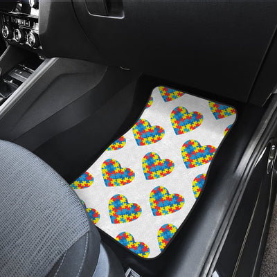Autism Awareness Heart Design Print Car Floor Mats