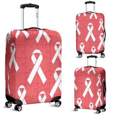 Autism Awareness Ribbon Design Print Luggage Cover Protector