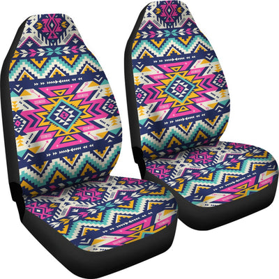 Aztec Pink Geometric Print Pattern Universal Fit Car Seat Covers
