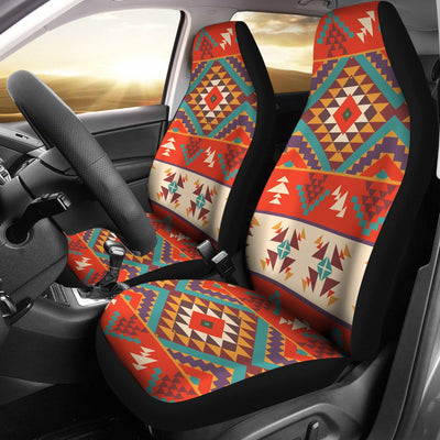 Aztec Red Print Pattern Universal Fit Car Seat Covers