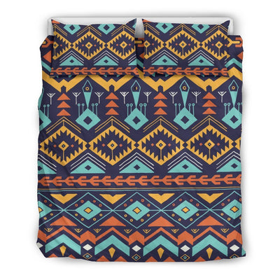 Aztec Style Print Pattern Duvet Cover Bedding Set