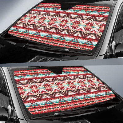 Aztec Western Style Print Pattern Car Sun Shade For Windshield