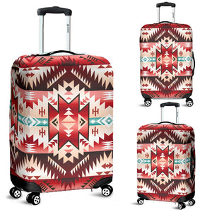 Aztec Western Style Print Pattern Luggage Cover Protector