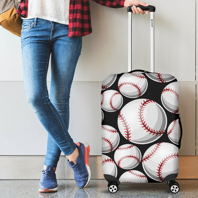 Baseball Black Background Luggage Cover Protector