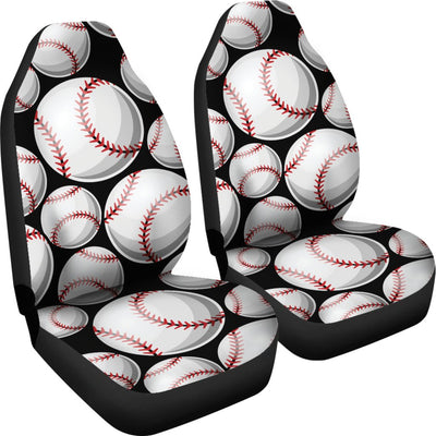 Baseball Black Background Universal Fit Car Seat Covers