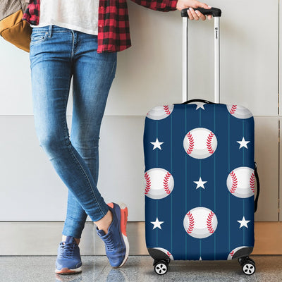 Baseball Star Print Pattern Luggage Cover Protector