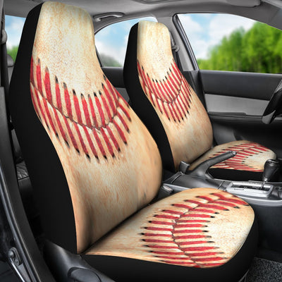 Baseball Stitches Themed Design No1 Print Universal Fit Car Seat Covers