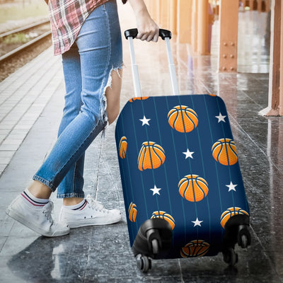 Basketball Star Print Pattern Luggage Cover Protector