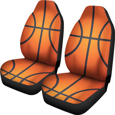 Basketball Texture Print Pattern Universal Fit Car Seat Covers