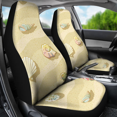 Beach with Seashell Theme Universal Fit Car Seat Covers