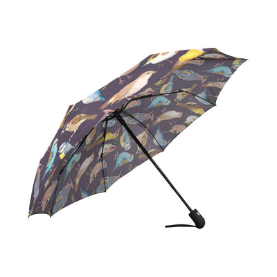 Bird Cute Print Pattern Automatic Foldable Umbrella