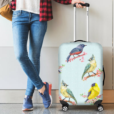 Bird Sweet Themed Print Pattern Luggage Cover Protector