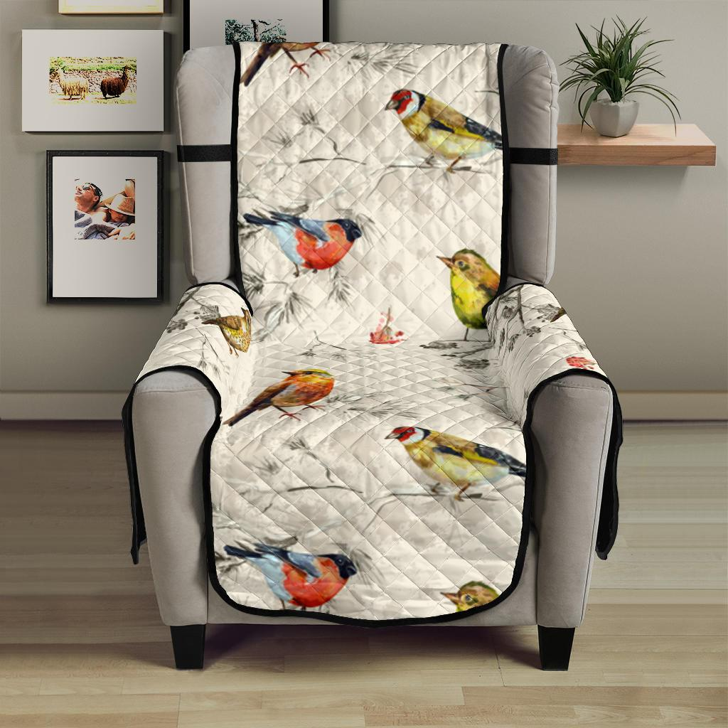 Bird Watercolor Design Pattern Chair Cover Protector
