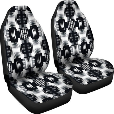 Black and White Sage Design No1 Print Universal Fit Car Seat Covers