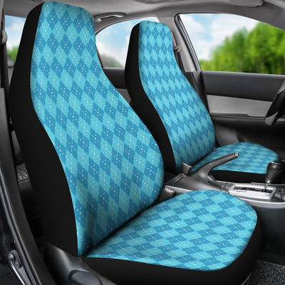 Blue Argyle Print Universal Fit Car Seat Covers