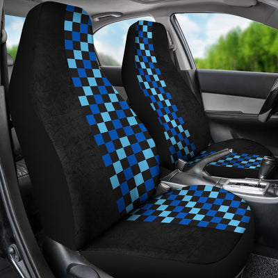 Blue Check Print Universal Fit Car Seat Covers