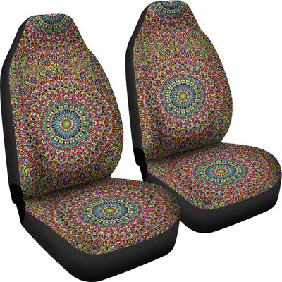 Bohemian Colorful Style Print Universal Fit Car Seat Covers