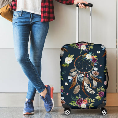 Bohemian Dream Catcher Style Print Luggage Cover Protector