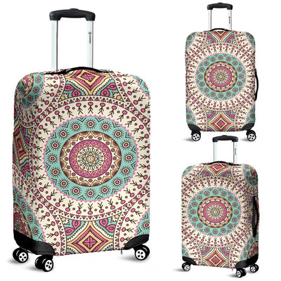 Bohemian Round Style Print Luggage Cover Protector
