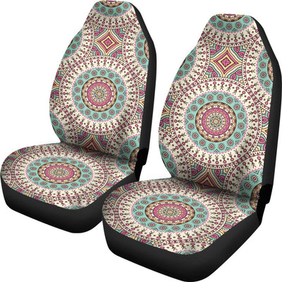 Bohemian Round Style Print Universal Fit Car Seat Covers