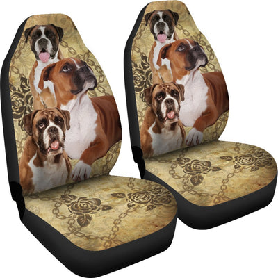 Boxer Design No1 Print Universal Fit Car Seat Covers