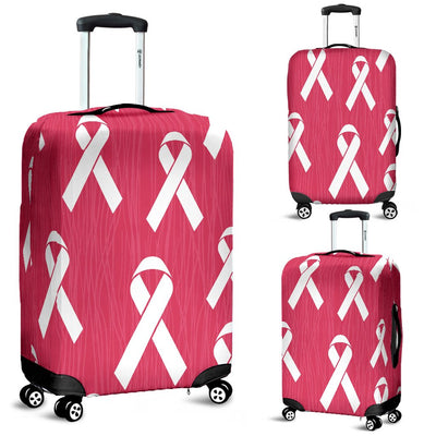Breast Cancer Awareness Symbol Luggage Cover Protector