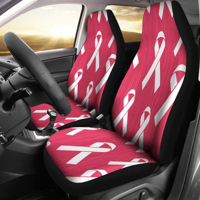 Breast Cancer Awareness Symbol Universal Fit Car Seat Covers