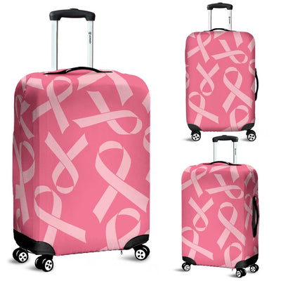 Breast Cancer Awareness Themed Luggage Cover Protector