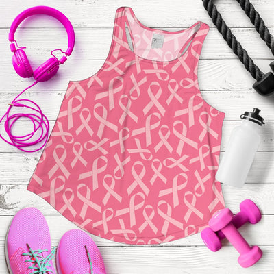 Breast Cancer Awareness Themed Women Racerback Tank Top