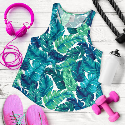 Brightness Tropical Palm Leaves Women Racerback Tank Top