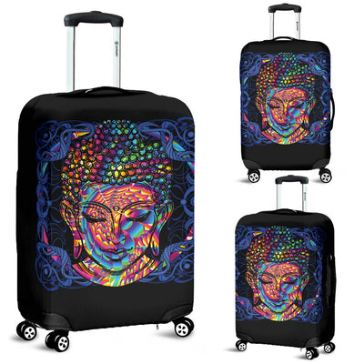 Buddha Head Colorful Print Luggage Cover Protector