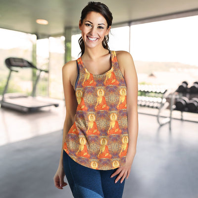 Buddha Indian Colorful Print Women Racerback Tank Top