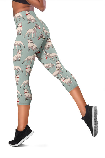 Bull Terrier Cute Print Pattern Women Capris