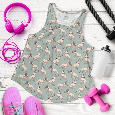 Bull Terrier Cute Print Pattern Women Racerback Tank Top
