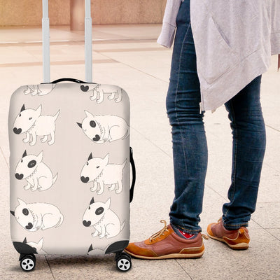 Bull Terrier Hand Draw Print Pattern Luggage Cover Protector