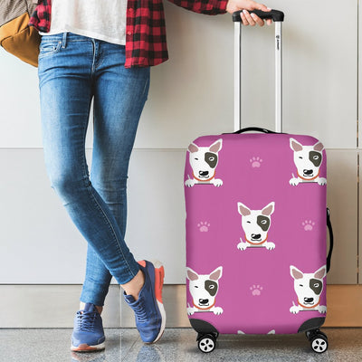 Bull Terrier Happy Print Pattern Luggage Cover Protector