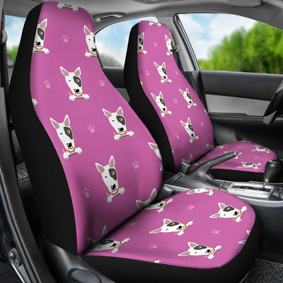 Bull Terrier Happy Print Pattern Universal Fit Car Seat Covers