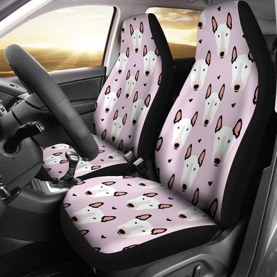 Bull Terrier Pink Print Pattern Universal Fit Car Seat Covers