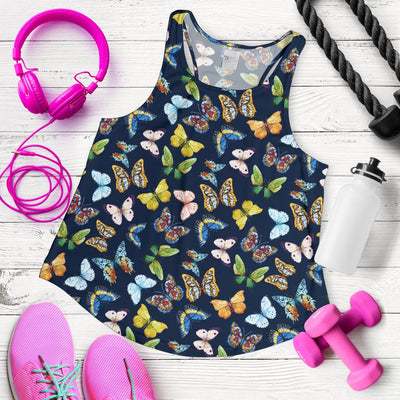 Butterfly Beautiful Print Pattern Women Racerback Tank Top