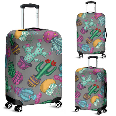 Cactus Colorful Print Pattern Luggage Cover Protector