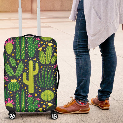 Cactus Cute Print Pattern Luggage Cover Protector