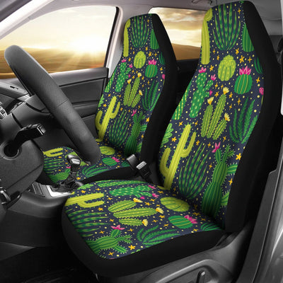 Cactus Cute Print Pattern Universal Fit Car Seat Covers