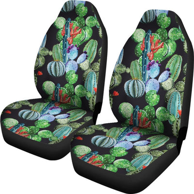 Cactus Watercolor Style Print Universal Fit Car Seat Covers