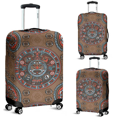 Calendar Aztec Design Print Pattern Luggage Cover Protector