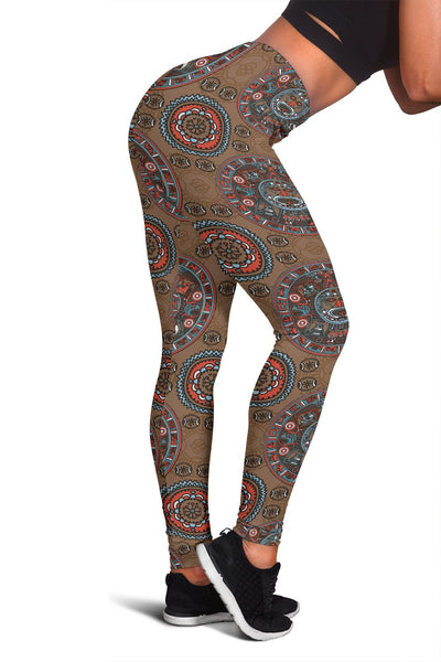 Calendar Aztec Design Print Pattern Women Leggings