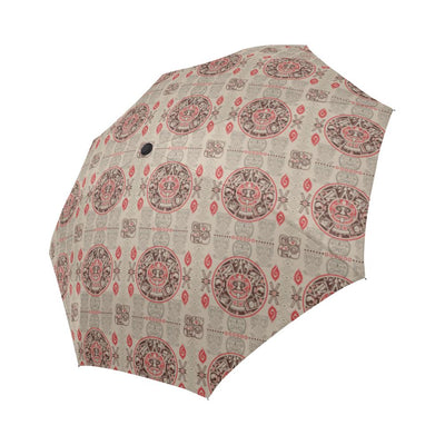 Calendar Aztec Print Pattern Automatic Foldable Umbrella