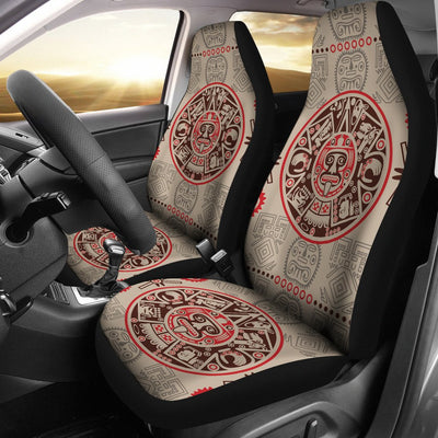 Calendar Aztec Print Pattern Universal Fit Car Seat Covers