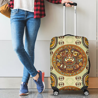 Calendar Aztec Themed Print Pattern Luggage Cover Protector