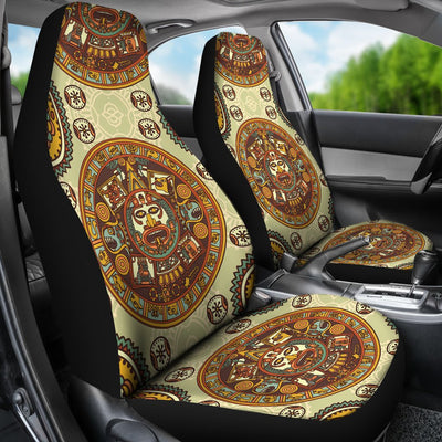 Calendar Aztec Themed Print Pattern Universal Fit Car Seat Covers