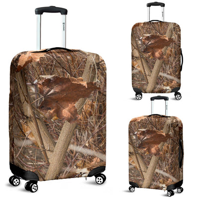 Camo Realistic Tree Forest Autumn Print Luggage Cover Protector